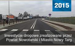 Baner prezentujący odnośnik do Inwestycje drogowe zrealizowane przez Powiat Nowotarski i Miasto Nowy Targ