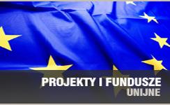 Baner prezentujący odnośnik do Projekty i fundusze unijne