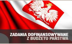 Baner prezentujący odnośnik do Zadania dofinansowywane z budżetu państwa