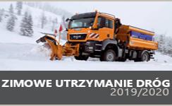 Baner prezentujący odnośnik do Zimowe utrzymanie dróg 2019-2020