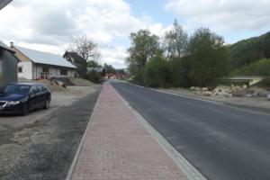 Droga w Ochotnicy po rozbudowie