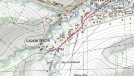 Mapa prezentująca zakres robót na ulicy Kościelnej