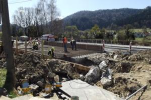 Droga w Krościenku podczas modernizacji