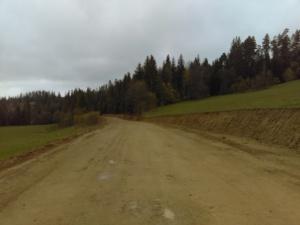 Droga Podszkle - Podwilk w trakcie prac