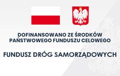 Baner prezentujący odnośnik do Funduszu Dróg Samorządowych