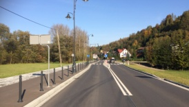 Droga powiatowa 1636K Krościenko - Szczawnica po przebudowie