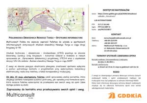 Plakat - zaproszenie spotkanie informacyjne